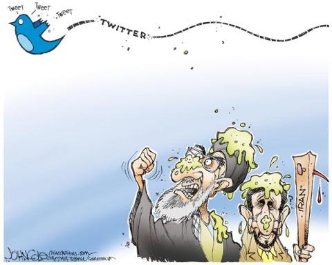 Twitter Craps on Ahmadinejad & Company