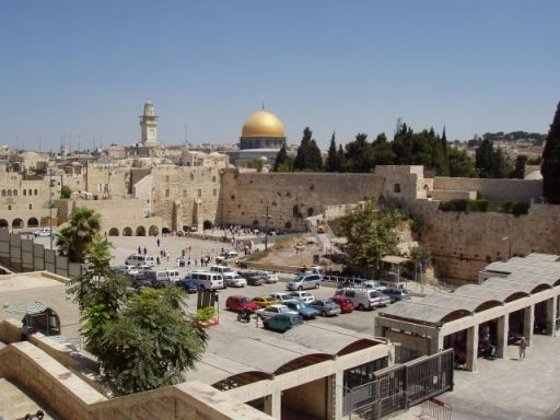 The Kotel as you see it when you descend the long, stone staircase from the Old City.