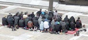 Pleven: Libyans praying #1