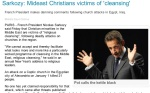 sarkozy says mideast christian are victims of ethinc cleansing